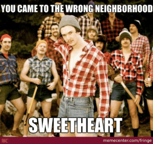 Internet Tough Guy by fringe - Meme Center: YOU CAME TO THE WRONG NEIGHBORHOOD  SWEETHEART  MC  memecenter.com/fringe Internet Tough Guy by fringe - Meme Center