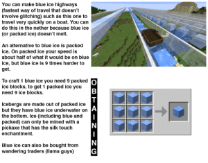 You Can Make Blue Ice Highways Fastest Way Of Travel That Doesn T Involve Glitching Such As This One To Travel Very Quickly On A Boat You Can Do This In The Nether Where to get blue ice, the crafting recipe for blue ice, what blue ice does, and everything else you need to. you can make blue ice highways fastest