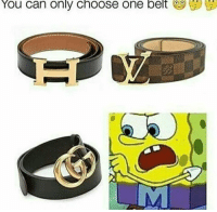 Belting: You  can  only  choose one  belt  y