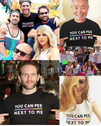 """Dank, Transgender, and Celebrated: You CAN PEE  NEXT TO ME  YOU CAN PEE  NEXT TO ME  YOU CAN PEE  NEXT TO ME  YOU CAN PEE  NEXT TO M Sad you missed the chance to get your own """"You Can Pee Next To Me"""" shirt? Urine luck. To celebrate Transgender Awareness Week we're offering them again for a short time. Let's continue the fight for equality—show your support and get yours here: http://bit.ly/YCPNTM-shirts"""