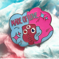 "Love, Memes, and Happy: You can pre order ""Made of Love"" today from @peachycollective ! We are so happy to release our first collab together 💖 pre orders are available for a limited time only so go get yours! stevenuniverse garnet cartoonnetwork"