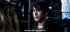 Crush, Target, and Tumblr: You can still come with us. kcismyreligion:  #here you have bellamy bradbury blake trying to flirt with clarke #THAT BOY HAD A THREESOME I SWEAR #and can't even wink properly at his crush #why is he like this #someone save him #you can still come with me #i mean with us #i'll miss you after 2 seconds #I MEAN THEY WILL MISS YOU AFTER 2 SECONDS #i'm asking for a friend