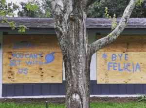 Best, Florida, and Hurricane: YOU CANT  3 BYE  US Hurricane Irma's Best Signs and Preparations in Florida | Miami New ...