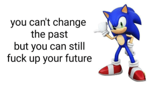 Trust the process!: you can't change  the past  but you can still  fuck up your future Trust the process!