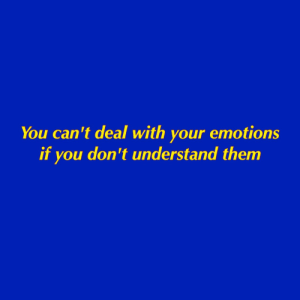 Them, You, and Deal: You can't deal with your emotions  if you don't understand them