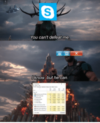 The most powerful being around via /r/dank_meme https://ift.tt/2B9AuEp: You can't defeat me  know, but he can.  Fie Options View  9%  42%  MemoryD  0%  6%  pps (6)  Background processes (49)  Adobe CSS Service Ma  32 The most powerful being around via /r/dank_meme https://ift.tt/2B9AuEp