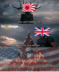 America Fuck Yeah: You can't defeat me  Theg Historian  I know, but he can