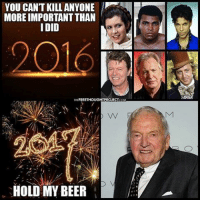 "Memes, 🤖, and Page: YOU CAN'T KILL ANYONE  MORE IMPORTANT THAN  IDID  2016  FREETHOUGHT PROJECT  HOLD MY BEER 💭 Multibillionaire globalist David Rockefeller has died at the age of 101.... 💭 REPORT: (link to article in our bio) Rockefeller was the last surviving grandson of John D. Rockefeller, the founder of the Standard Oil Company, which he built into an oil empire that made him America's first billionaire and transformed his family into one of the most powerful in the world. . David Rockefeller was a renowned banker and philanthropist who controlled Chase Manhattan bank for more than a decade. Rockefeller worked diligently to spread globalist neoliberal capitalism to the world, and in the process, wielded uncanny global political influence. . Rockefeller is a prime example of the dominance of ruling elite oligarchy. He stood at the pinnacle of private-government collusion and was often used as an intermediary in diplomatic negotiations — a back channel. . Essentially, Rockefeller helped usher in an era of billionaire globalist domination over nation-state sovereignty. This influence is best summed up by DavidRockefeller in a direct quote from his memoir: . ""Some even believe we [Rockefeller family] are part of a secret cabal working against the best interests of the United States, characterizing my family and me as 'internationalists' and of conspiring with others around the world to build a more integrated global political and economic structure – One World, if you will. If that's the charge, I stand guilty, and I am proud of it."" . Rockefeller did more to shatter the sovereignty of nations and push the world toward a one world globalist government than anyone else in history. Rather than allowing individuals to decide the trajectory of their own societies, men like Rockefeller have worked tirelessly to shape the world to operate by their own designs... . - Continued - . 💭 Read the FULL Report: (link in bio) http:-thefreethoughtproject.com-globalist-rockefeller-dies-101- 💭 Join Us: @TheFreeThoughtProject 💭 TheFreeThoughtProject 💭 LIKE our Facebook page & Visit our website for more News and Information. Link in Bio.... 💭 www.TheFreeThoughtProject.com"