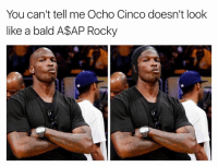 A$AP Rocky, Rocky, and Mind: You can't tell me Ocho Cinco doesn't look  like a bald A$AP Rocky MIND BLOWN! 😱😱😱