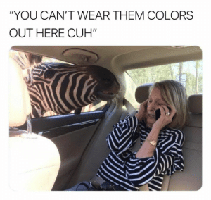 "Them, You, and  Colors: ""YOU CAN'T WEAR THEM COLORS  OUT HERE CUH"""