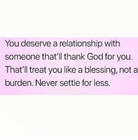 do not settle for less in a relationship