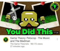 Petscop: You Did This  17:26  Game Theory: Petscop - The Music  and The Madman  The Game Theorists 98,172 views  27 minutes ago