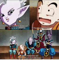 "Anime, Aww, and Dragonball: You did your best, Krillin san  I'm not at all bothered.  Your eyes are scary!  Your eves are scary  Cheer everyone on!  at's all you can do nOW  That's all you can do now Aww, poor KRILLIN ~ DB DBZ DBS DragonBall DragonBallZ DragonBallSuper DBSuper Goku Kakarot Gohan Trunks Vegeta ultrainferno ultradbz Goten Gogeta SSJ SSJ2 SSJ3 SSJG SSB Saiyan SuperSaiyan DBGT DragonBallGT saiyanevolution justsaiyan traininsaiyan anime manga - ""Every moment you live in the past is a moment you waste in the present."""