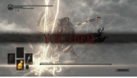 Kids, Tough, and Never: YOU DIED  Nameless King  Estus Flask+10 Remember, kids: No matter how close you get to killing a tough boss, never get greedy. https://t.co/oergQtix88