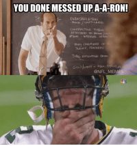 Packers fans over here like...: YOU DONE MESSED UPA-A-RON!  L ENDOSKELETON  9ONSE CARTILAGE  CONTRACTLE TigSUE  ATTACHED TO BONE lae  SOME INTERNAL OR  COVERIN65 OF  SCALES, FEAmERS  TUBE EXTENDING FROM  NFL MEMES Packers fans over here like...