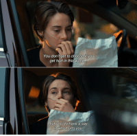 The Fault In Our Stars https://t.co/jQmaQMRcWN: You don't get to choose if yoU  get hurt in this world  but you do have a say  in who hurts you The Fault In Our Stars https://t.co/jQmaQMRcWN