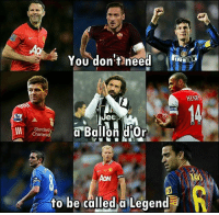 Facts: You don't]neea  RE  HENRY  Jee  Standard  Charteredt  Ballon d'or  AON  3  h to be called Legend Facts