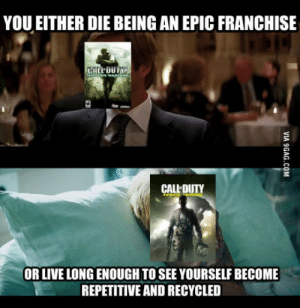 Video Games, Games, and Live: YOU EITHER DIE BEING AN EPIC FRANCHISE  CALL-DUTY  OR LIVE LONG ENOUGH TO SEE YOURSELF BECOME  REPETITIVE AND RECYCLED Video games nowadays
