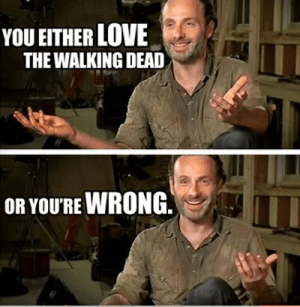 Funny, Love, and Memes: YOU EITHER LOVE  THE WALKING DEAD  OR YOURE WRONG. 49 Best Funny Walking Dead Memes – The Viraler