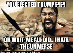 LOL's Club » Laugh Out Loud's Club » trump memes boi: YOU ELECTED TRUMPIPP!  OH WAIT WE ALLDIDHATE  THE UNIVERSE  Make your Meme at www.lolsclub.com LOL's Club » Laugh Out Loud's Club » trump memes boi