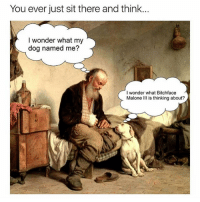 😂😂😂 | More 👉 @miinute: You ever just sit there and think...  I wonder what my  dog named me?  I wonder what Bitchface A  Malone is thinking about? 😂😂😂 | More 👉 @miinute
