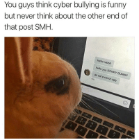 Bunnies, Rude, and Smh: You guys think cyber bullying is funny  but never think about the other end of  that post SMH  henlo rabbit  hello you STINKY BUNNY  go eat a carrot ugly Rude af
