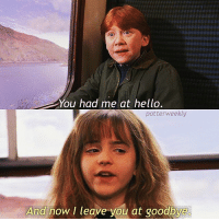 Birthday, Harry Potter, and Hello: You had me at hello.  potterweekly  And now I leave you at goodbye ✎✐✎ ↯ ⇢ Blossoming love :') ↯ ⇢ I'm seriously enjoying the scenery on this trip, not so much how cold it is but hey, gotta make sacrifices for great things ↯ ⇢ Please follow the tagged account as they're featured for the week! If you want to be featured for a week then simply tag your posts to the hashtag :) ✎✐✎ Birthday(s) Of The Day 👇🏼🎂🎉 ⇢ Wish Stephanie a very happy birthday in the comments please! ✎✐✎ My Other Accounts: ⇢ @TheWizardWeekly - [ account for blended-video-aesthetic edits ] ⇢ @MarvelsWomen - [ co-owned Marvel account ] ⇢ @HPTexts - [ co-owned Harry Potter text messages account ] ⇢ @LumosTutorials - [ co-owned instagram tutorial account ] ✎✐✎ QOTD : Warm or cold temperature? AOTD : Warm omg I cannot stand the cold