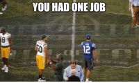 So the NFL Hall of Fame Game between the Colts and the Packers which had been planned for months was canceled due to poor playing conditions on the field: YOU HAD ONE JOB So the NFL Hall of Fame Game between the Colts and the Packers which had been planned for months was canceled due to poor playing conditions on the field
