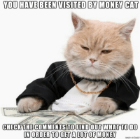 money cat: YOU HAVE BEEN VISITED BY MONEY CAT  CHECK THE COMMENTS TO FIND OUT WHAT TO 00  IN ORDER TO GET A LOT OF MONE