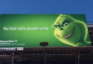 Reddit, Live, and You: You have mere seconds to live.  November 9  TheGrinch  N ONEA ALD 30A  MAX  TFRONT/6719 I have nothing to say, reddit
