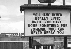 Repay: YOU HAVE NEVER  REALLY LIVED  UNTIL YOU HAVE  DONE SOMETHING FOR  SOMEONE WHO CAN  NEVER REPAY YOU  mard bu