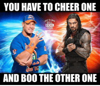 Boo, Funny, and Love: YOU HAVE TO CHEER ONE  WC'S OWN  STILL  REAL  TOUS  AND BOO THE OTHER ONE If you had to decide... who are rolling with in this feud? wwe wwememes raw sdlive wrestling funny like follow share njpw roh love laugh haha memes jokes likes nxt dankmemes ig johncena romanreigns and link in my bio for this weeks podcast