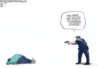 """""""Police shootings and your rights as an unarmed black man."""" - via @patbagley on Twitter #BlackLivesMatter: YOU  HAVE  TO REMAIN  SILENT. """"Police shootings and your rights as an unarmed black man."""" - via @patbagley on Twitter #BlackLivesMatter"""
