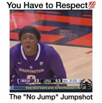 "Her Jumpshot is Cold❄️🤘 - Via - @athleticsplayz 🔥💀: You Have to Respect  WASHIN  WASH 33 20SU 53  BRD 2:10  :3  Rose Bowl Game pres, by Northwestern ML PB  The ""No Jump"" Jumpshot Her Jumpshot is Cold❄️🤘 - Via - @athleticsplayz 🔥💀"