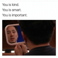 You Is Kind You Is Smart: You is kind  You is smart  You is important.