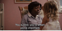 You Is Kind You Is Smart: You is kind, you is smart,  you is important