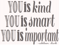 YOU is kind  YOU isamart  YHisimportant ~Gru