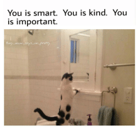 You is smart. You is kind. You  is important  my mom says im pre @_taxo_ is very smart, kind and important 😊 my_mom_says_im_pretty noharmdone teamnoharmdone