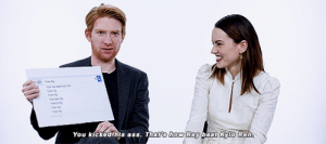 Ass, Jedi, and Rey: You  kicked his ass. That  s how Rey beat Kkyio Ren domhnall-tonal: The Last Jedi Cast Answers the Web's Most Searched Questions
