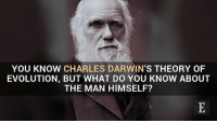 Fact: Charles Darwin, best known for his contributions to evolutionary theory, was born on February 12, 1809. Darwin DarwinDay DidYouKnow Facts KnowItAll: YOU KNOW CHARLES DARWIN'S THEORY OF  EVOLUTION, BUT WHAT DO YOU KNOW ABOUT  THE MAN HIMSELF? Fact: Charles Darwin, best known for his contributions to evolutionary theory, was born on February 12, 1809. Darwin DarwinDay DidYouKnow Facts KnowItAll