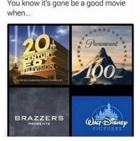 Memes, News, and Brazzers: You know it's gone be a good movie  when  aramount  A NEWS CORPORATION CORI ANY  BRAZZERS  ISNE  PRESENTS  PICTURES I get my memes from @xhoodiex 😂
