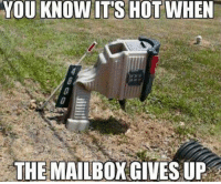 Ups, Mexican Word of the Day, and The Mailbox: YOU KNOW ITS HOT WHEN  THE MAILBOX GIVES UP
