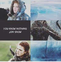 You KNOW NOTHING  JON SNOW Ygritte my fav little bean 🍃 I wish she didn't die 😭 — good night folks 💚