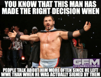 austinaries wrestling prowrestling professionalwrestling meme wrestlingmemes wwememes wwe nxt raw mondaynightraw sdlive smackdownlive tna impactwrestling totalnonstopaction impactonpop boundforglory bfg xdivision njpw newjapanprowrestling roh ringofhonor luchaunderground pwg: YOU KNOW THAT THIS MAN HAS  MADE THE RIGHT DECISION WHEN  GRAVITY.FORGOT.ME  PEOPLE TALK ABOUTHIM MOREOFTENSINCE HE LEFT  WWE THAN WHEN HE WAS ACTUALLY SIGNED BY THEM austinaries wrestling prowrestling professionalwrestling meme wrestlingmemes wwememes wwe nxt raw mondaynightraw sdlive smackdownlive tna impactwrestling totalnonstopaction impactonpop boundforglory bfg xdivision njpw newjapanprowrestling roh ringofhonor luchaunderground pwg