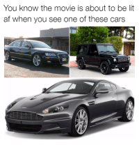 True! Car memes: You know the movie is about to be lit  af when you see one of these cars True! Car memes