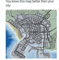 Life, Gta, and Map: You know this map better than your  city  g:@Webelip LAt GTA life 😎😂 https://t.co/HzK1wbcpNV