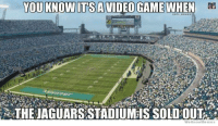 Meme, Nfl, and Game: YOU KNOW TSA VIDEO GAME WHEN  m  We Know Meme Jags can only wish this was their stadium.