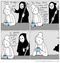New comic! Win! www.lunarbaboon.com: You Know what  erm  Ca  Someone a  0 that  0  touches  0  aWoman  after  she  Says  No?  I think  maybe  I'I  US  имм.lunarbaboon.com New comic! Win! www.lunarbaboon.com
