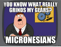 YOU KNOW WHAT REALLY  GRINDS MY GEARS  MICRONESIANS  memes COM