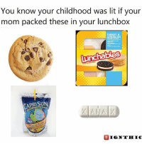 Xanny help the pain yaaah: You know your childhood was lit if your  mom packed these in your lunchbox  TURKEY &  AMERICAN  lunchables  CAPRISUN Xanny help the pain yaaah
